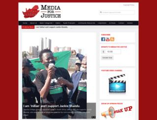 mediaforjustice.net screenshot