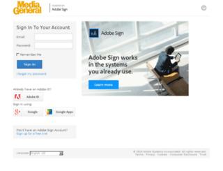 mediageneral.echosign.com screenshot