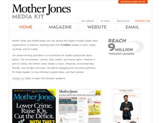 mediakit.motherjones.com screenshot