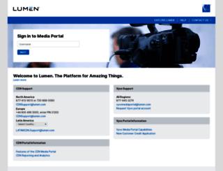 mediaportal.level3.com screenshot