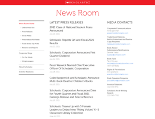 mediaroom.scholastic.com screenshot