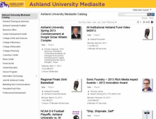 mediasite.ashland.edu screenshot