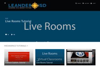 mediaspace.leanderisd.org screenshot