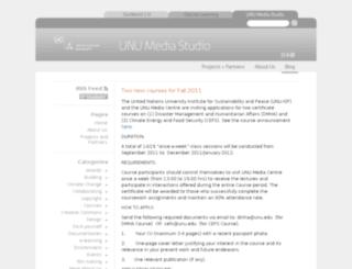 mediastudio.unu.edu screenshot