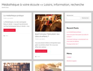 mediatheque-noisylesec.org screenshot