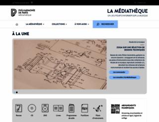 mediatheque.cite-musique.fr screenshot