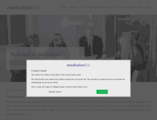 mediation-1st.co.uk screenshot