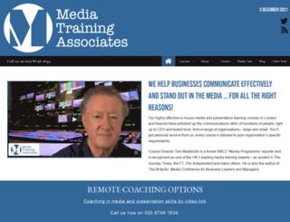 mediatrainingassociates.co.uk screenshot