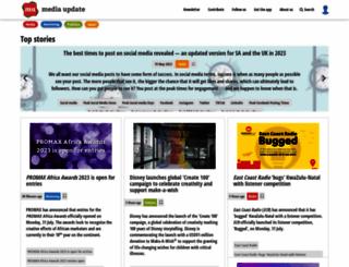mediaupdate.co.za screenshot