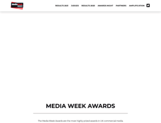 mediaweekawards.co.uk screenshot