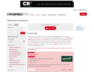 mediaweekjobs.co.uk screenshot