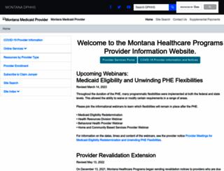 medicaidprovider.mt.gov screenshot