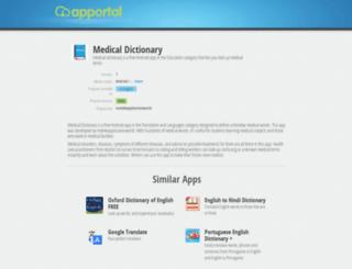 medical-dictionary.apportal.co screenshot