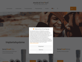 medical-instinct.de screenshot