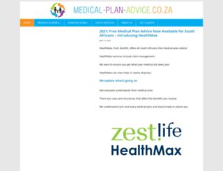 medical-plan-advice.co.za screenshot
