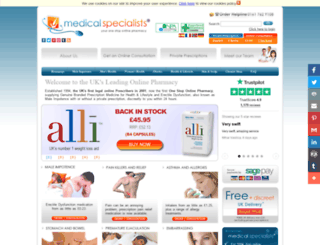 medical-specialists.co.uk screenshot