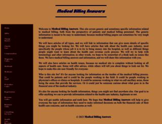 medicalbillinganswers.com screenshot