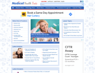 medicalhealthtests.com screenshot