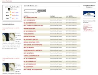 medicaljobsgreenville.com screenshot