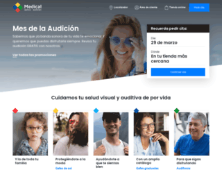 medicaloptica.es screenshot