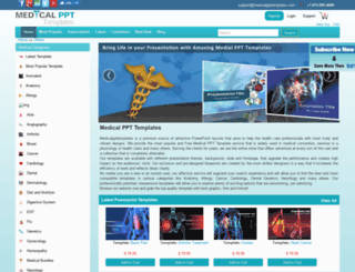 medicalppttemplates.com screenshot
