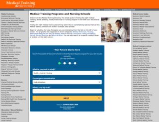 medicaltrainingdirectory.com screenshot