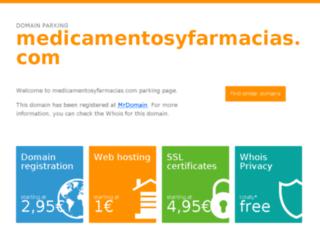 medicamentosyfarmacias.com screenshot