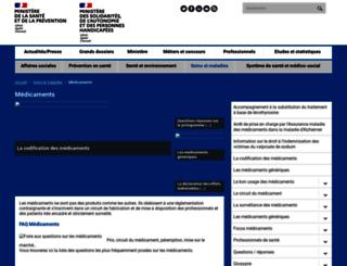 medicaments.gouv.fr screenshot