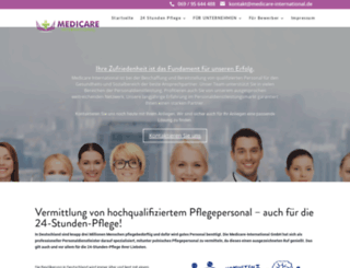 medicare-international.de screenshot