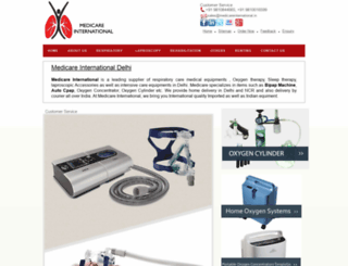 medicareinternational.in screenshot
