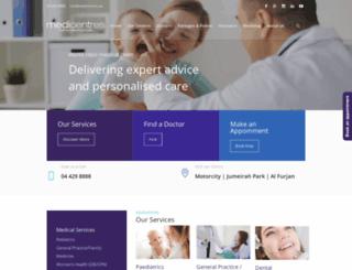 medicentres.ae screenshot