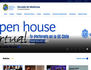 medicina.uc.cl screenshot