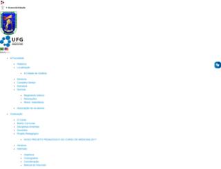 medicina.ufg.br screenshot
