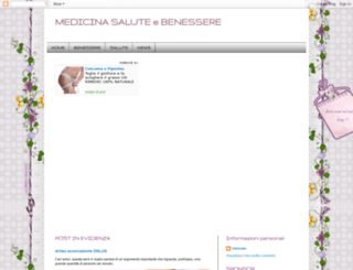 medicinasalutebenessere.blogspot.it screenshot