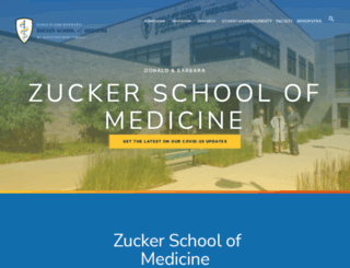 medicine.hofstra.edu screenshot