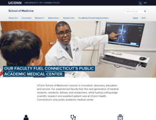 medicine.uchc.edu screenshot