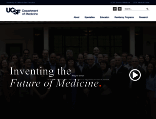 medicine.ucsf.edu screenshot