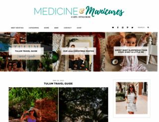 medicineandmanicures.com screenshot