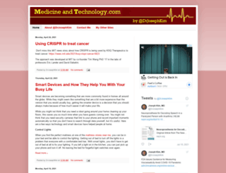 medicineandtechnology.com screenshot