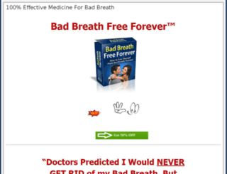 medicineforbadbreath.com screenshot