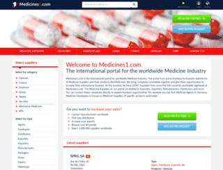 medicines1.com screenshot