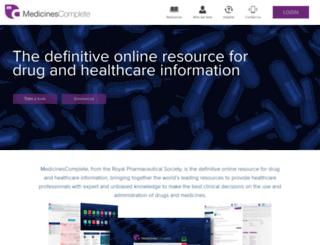 medicinescomplete.com screenshot