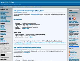 medicjobs.wordpress.com screenshot