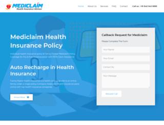 mediclaim.ind.in screenshot