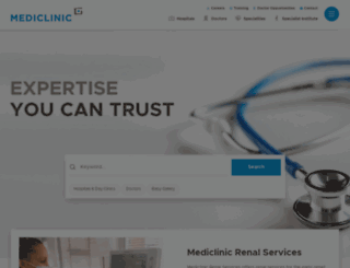 mediclinic.co.za screenshot