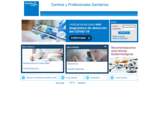 medicos.sanitas.es screenshot