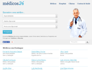 medicos24.pt screenshot