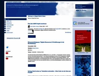 mediendidaktik.uni-duisburg-essen.de screenshot