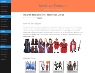 medieval-dresses.co.uk screenshot