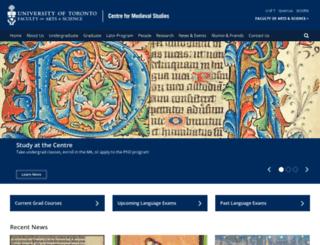 medieval.utoronto.ca screenshot
